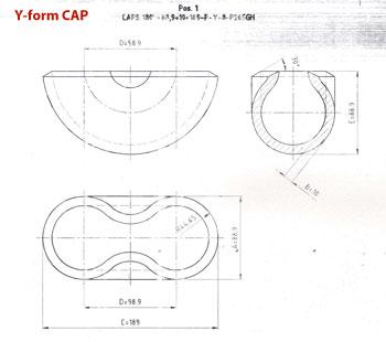 Steel Caps Y Form