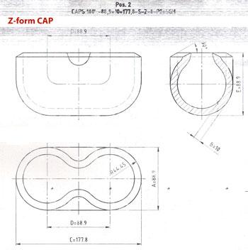 Steel Caps Z Form